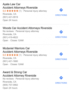 attorney google map spam